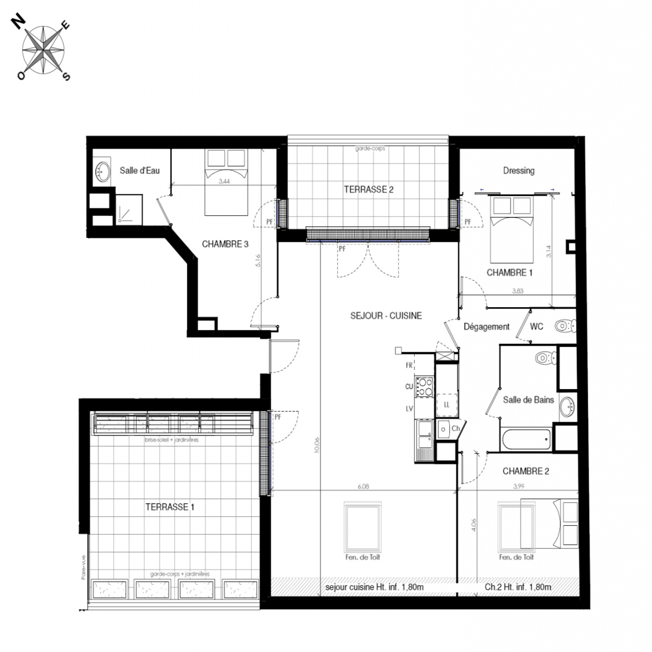 Image_3, Appartement, Toulouse, ref :CAB15